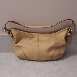 EUC Coach beige small purse